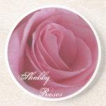Rosas rosados Práctico de costa-Lamentables Posavasos Manualidades