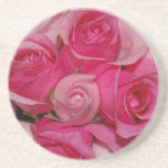 Rosas rosados - prácticos de costa posavasos manualidades