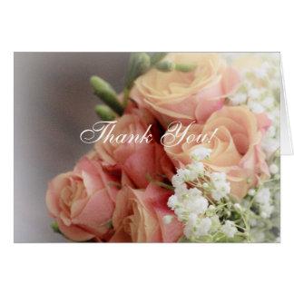 Rosas rosados suaves y boda de la respiración del tarjetas