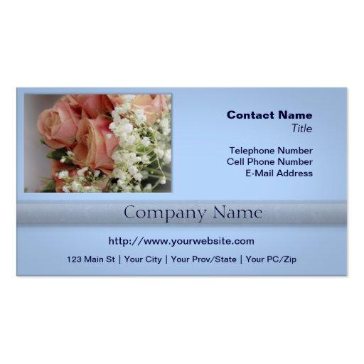 Rosas rosados suaves y la respiración del bebé tarjeta de negocio