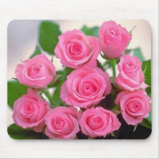 Rosas rosados alfombrilla de ratón