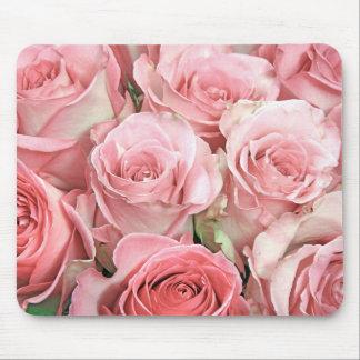 Rosas rosados tapetes de ratón