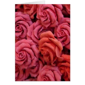 Rosas rosados felicitacion