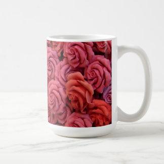Rosas rosados tazas