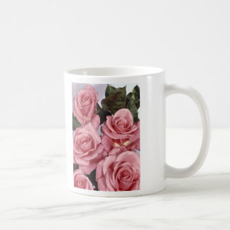 Rosas rosados taza