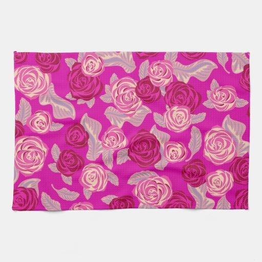 Rosas rosados - toalla de cocina femenina