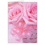 Rosas rosados V Tarjetón