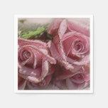 Rosas rosados vivos - servilletas de papel