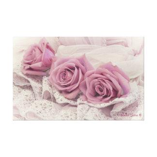 Rosas rosados y aún arte de la lona de la vida lona estirada galerías
