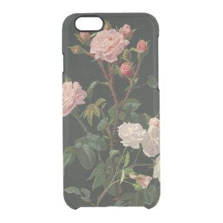 Rosas rosados y blancos del vintage funda clearly™ deflector para iPhone 6 de uncommon