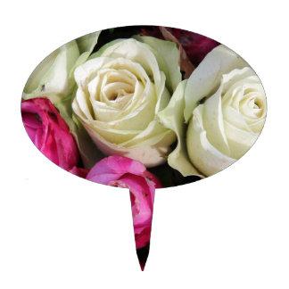 Rosas rosados y blancos por Therosegarden Palillos De Tarta