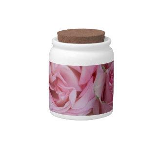 rosas rosados y blancos por Therosegarden Jarras Para Caramelos