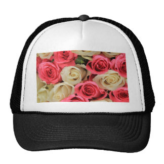 Rosas rosados y blancos por Therosegarden Gorras