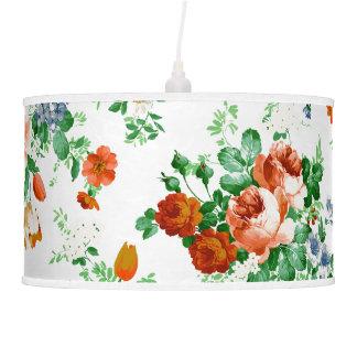 Rosas rosados y rojos y flores clasificadas lámpara de techo