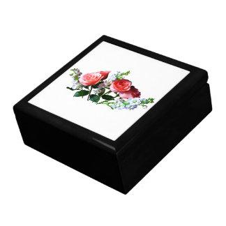 Rosas rosados y Snapdragons Cajas De Recuerdo
