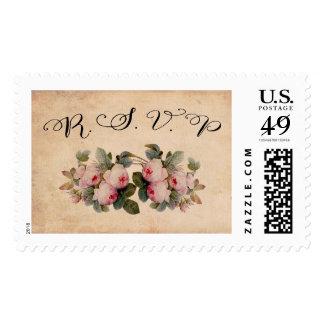 Rosas rústicos del Victorian del sello de RSVP el