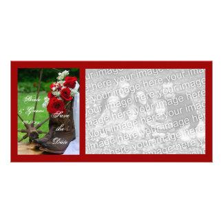 Rosas rústicos que casan reserva que la foto de la tarjetas fotograficas