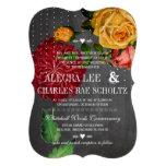Rosas rústicos románticos de la herencia de la piz invitación