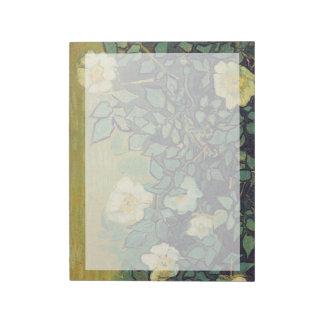 Rosas salvajes, 1890.  Vincent van Gogh. Bloc De Papel