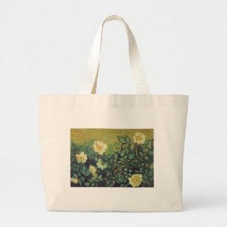 Rosas salvajes, 1890.  Vincent van Gogh. Bolsa Tela Grande