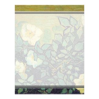 Rosas salvajes, 1890, Vincent van Gogh. Membrete A Diseño
