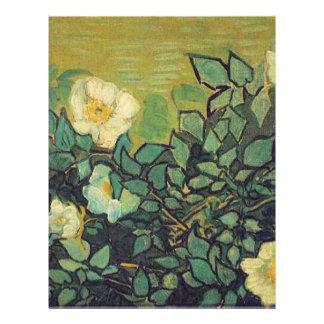Rosas salvajes, 1890, Vincent van Gogh. Membrete Personalizado