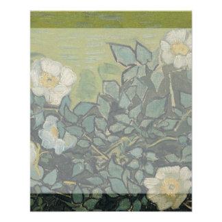 Rosas salvajes de Vincent van Gogh Tarjeton