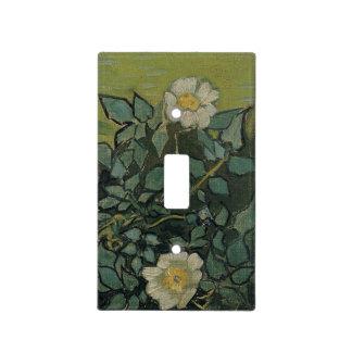 Rosas salvajes de Vincent van Gogh Placa Para Interruptor