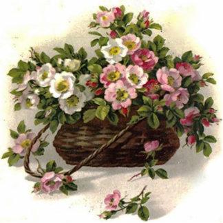 Rosas salvajes del vintage llavero fotográfico