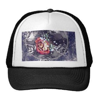 Rosas secados negro y gris gorras de camionero