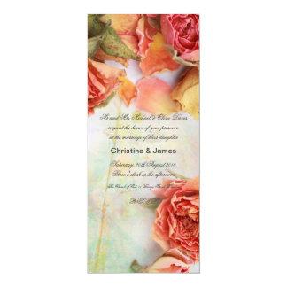 Rosas secos hermosos, invitación romántica del