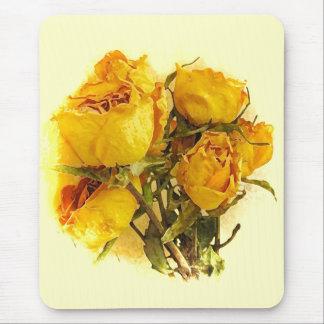 Rosas secos alfombrilla de ratón