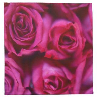 Rosas Servilletas Imprimidas