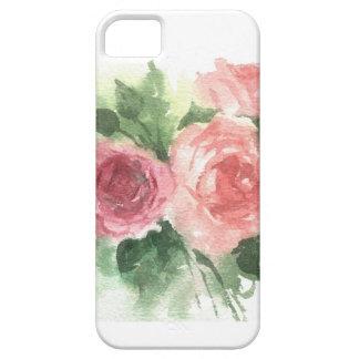 rosas suaves hermosos de la acuarela en su funda para iPhone 5 barely there