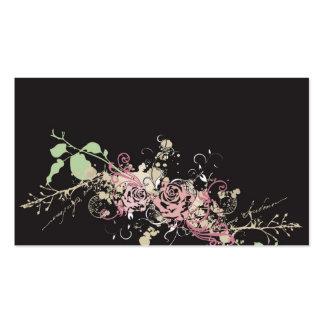 Rosas sucios tarjetas de visita