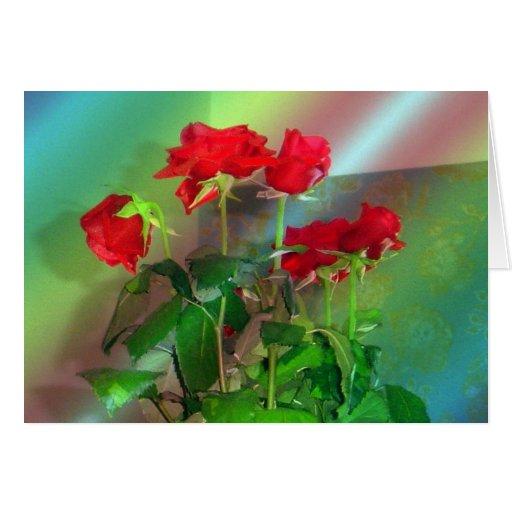 Rosas, - Venecia---Colores Tarjeta De Felicitación