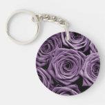 Rosas violetas llaveros