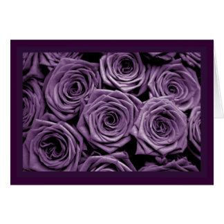 Rosas violetas tarjeton