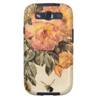 Rosas y abejorros de Paul de Longpré Samsung Galaxy SIII Funda