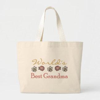 Rosas y abuela del mundo de las margaritas la mejo bolsa tela grande