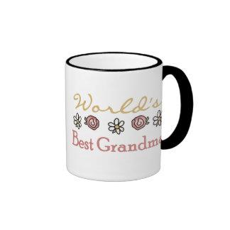 Rosas y abuela del mundo de las margaritas la mejo taza