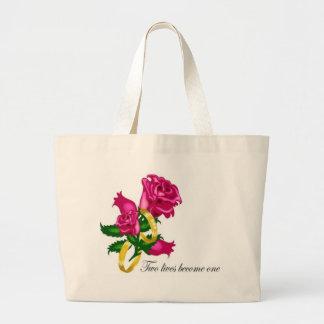 Rosas y alianzas de boda bolsas de mano