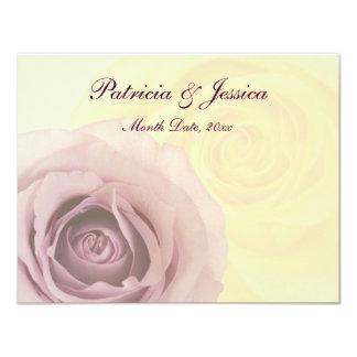 """Rosas y amor invitación 4.25"""" x 5.5"""""""