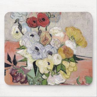 Rosas y anémonas, 1890 alfombrilla de raton