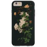 Rosas y azaleas del vintage funda resistente iPhone 6 plus