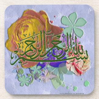 Rosas y Basmala islámicos Posavasos