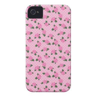 Rosas y caso rosados menudos del iphone 4S de los Case-Mate iPhone 4 Fundas