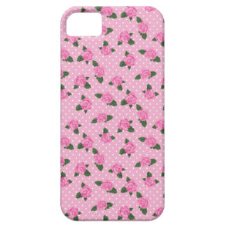 Rosas y caso rosados menudos del iphone 5 de los iPhone 5 funda