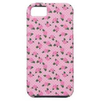 Rosas y caso rosados menudos del iphone 5S de los iPhone 5 Fundas