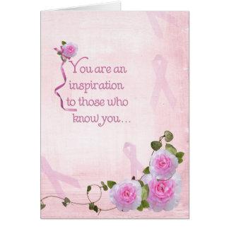Rosas y cintas tarjeta de felicitación